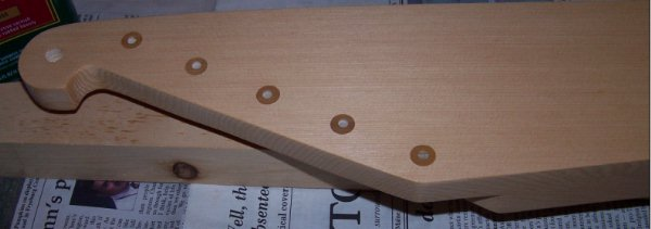 a picture of the kantele after applying a coat of finish